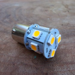 LED 6V BA 15 S yellow/amber